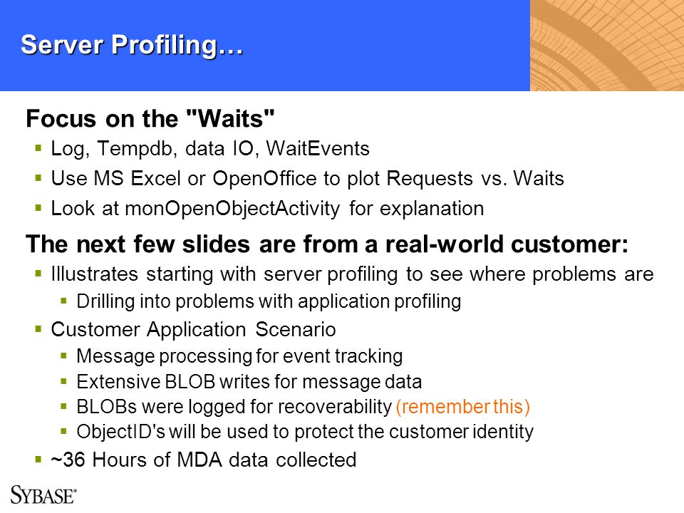 Server Profiling… Focus on the Waits