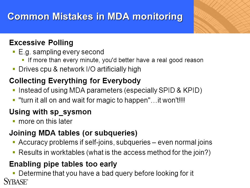 Common Mistakes in MDA monitoring