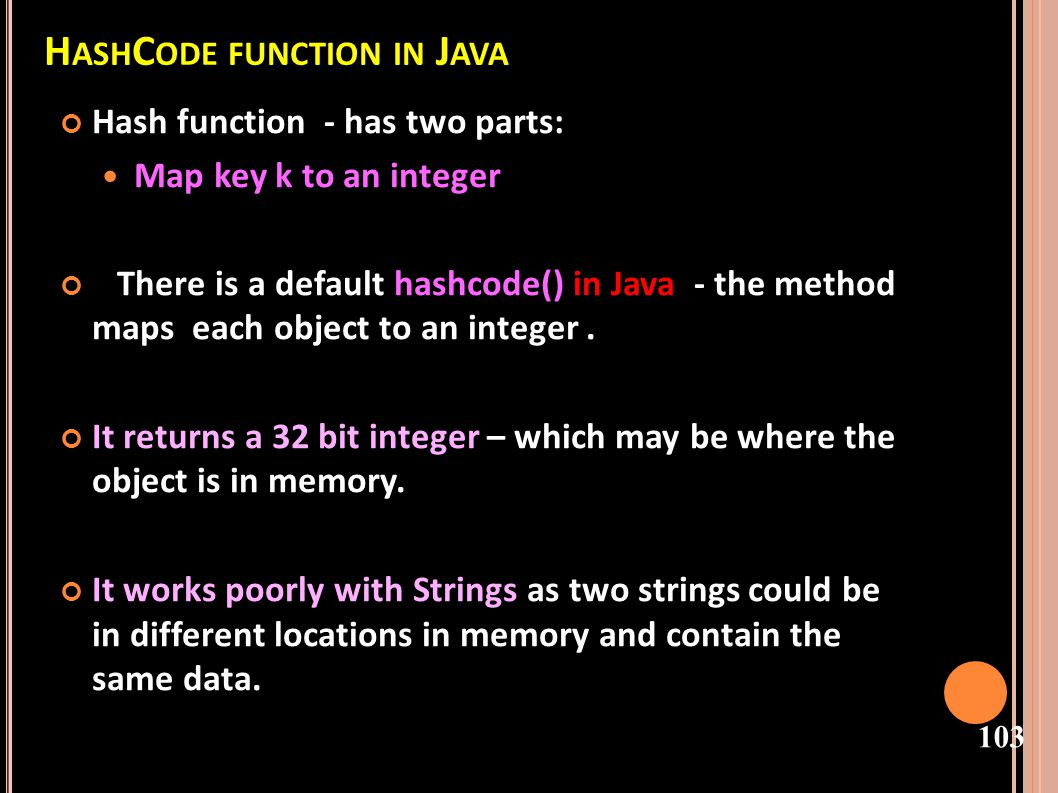 HashCode function in Java