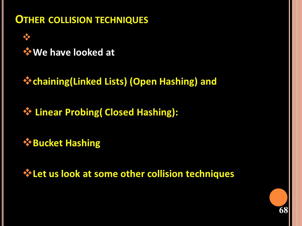 Other collision techniques