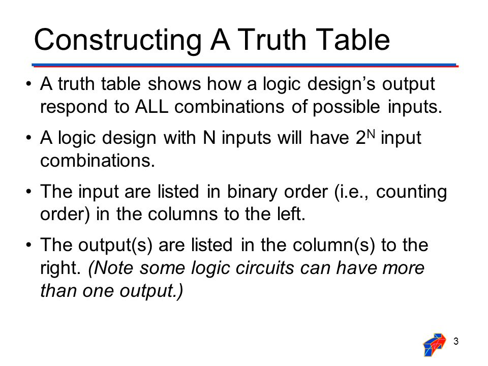 Constructing A Truth Table