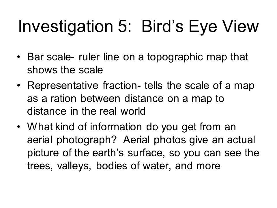 Investigation 5: Bird's Eye View