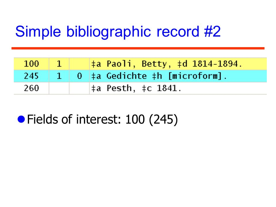 Simple bibliographic record #2