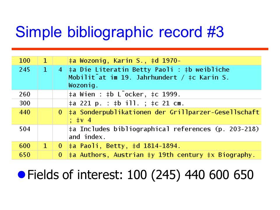 Simple bibliographic record #3
