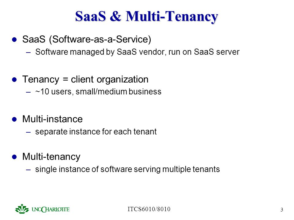 SaaS & Multi-Tenancy SaaS (Software-as-a-Service)