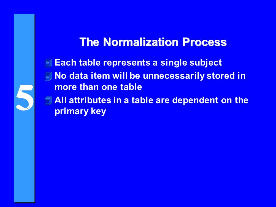 The Normalization Process