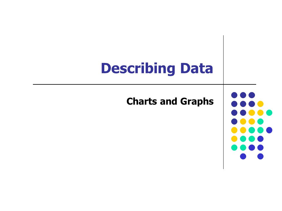 Describing Data Charts and Graphs
