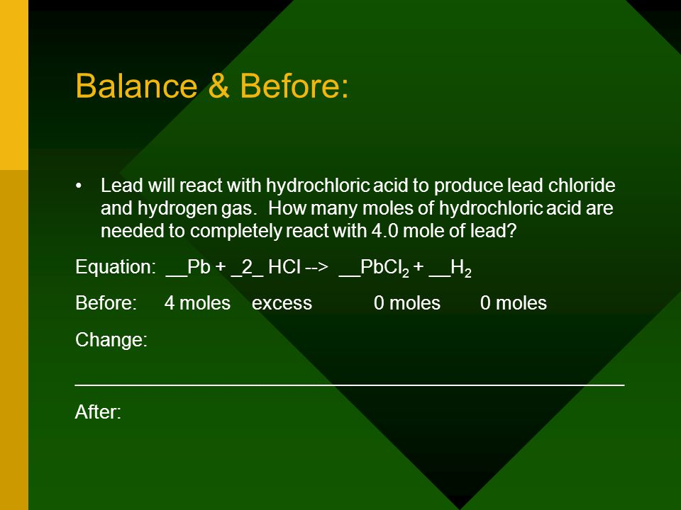Balance & Before: