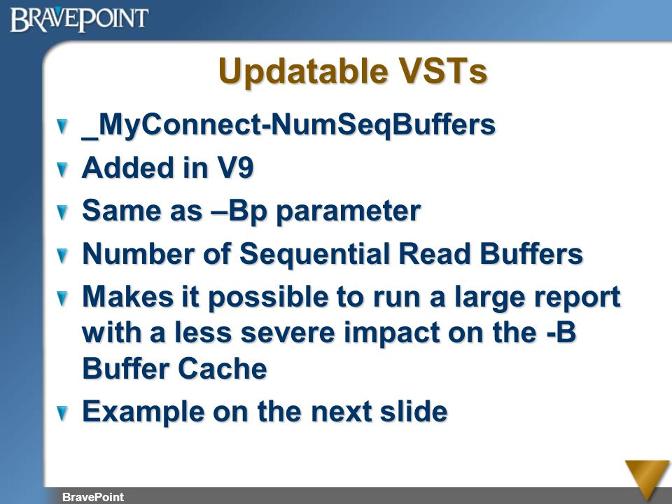 Updatable VSTs _MyConnect-NumSeqBuffers Added in V9