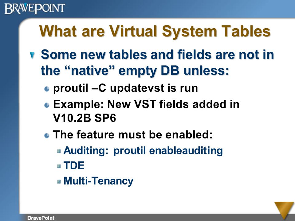 What are Virtual System Tables