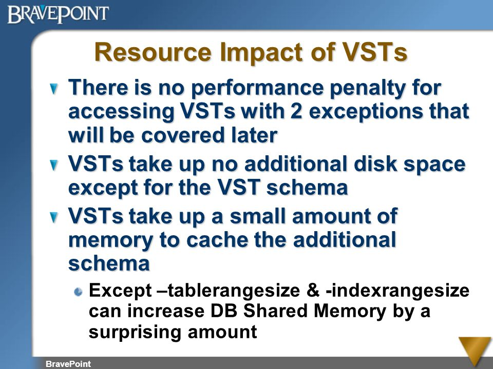 Resource Impact of VSTs