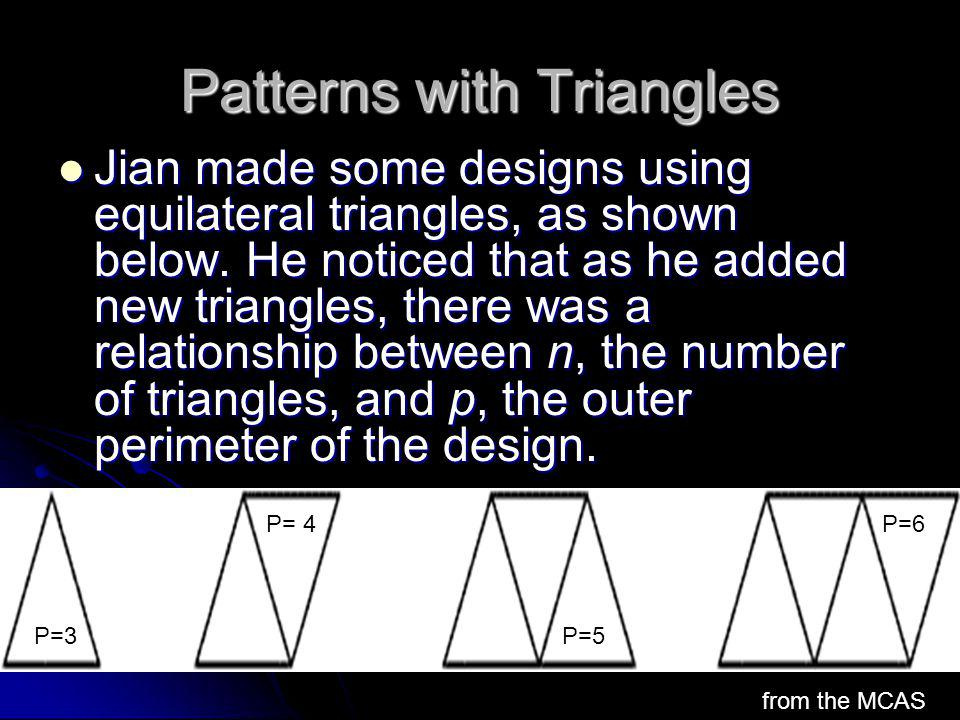 Patterns with Triangles
