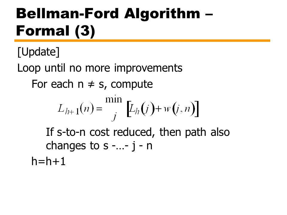 Bellman-Ford Algorithm – Formal (3)