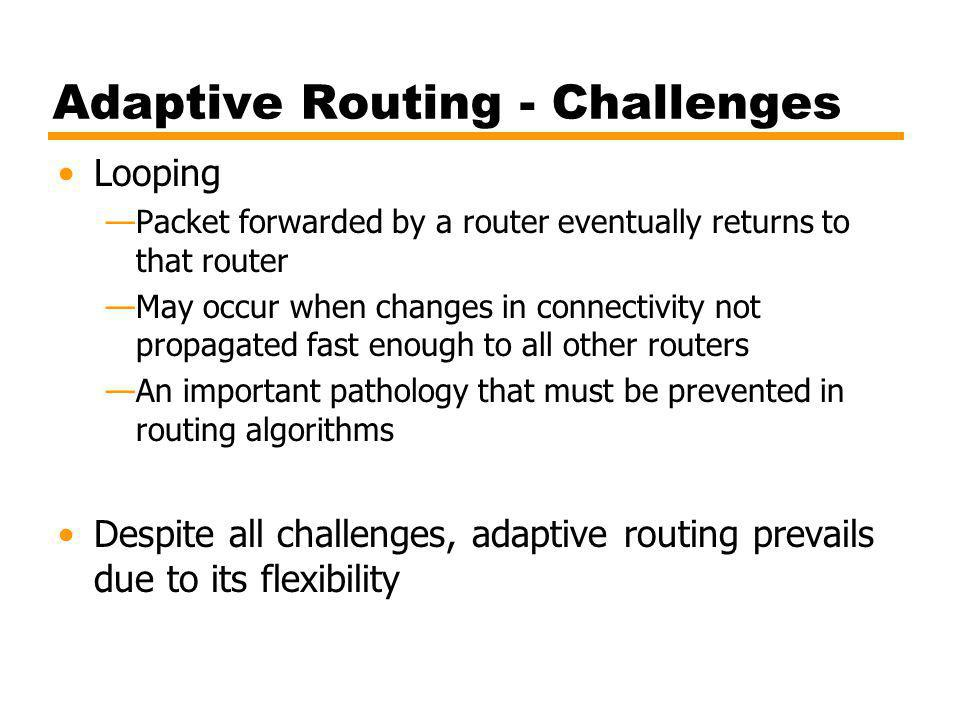 Adaptive Routing - Challenges
