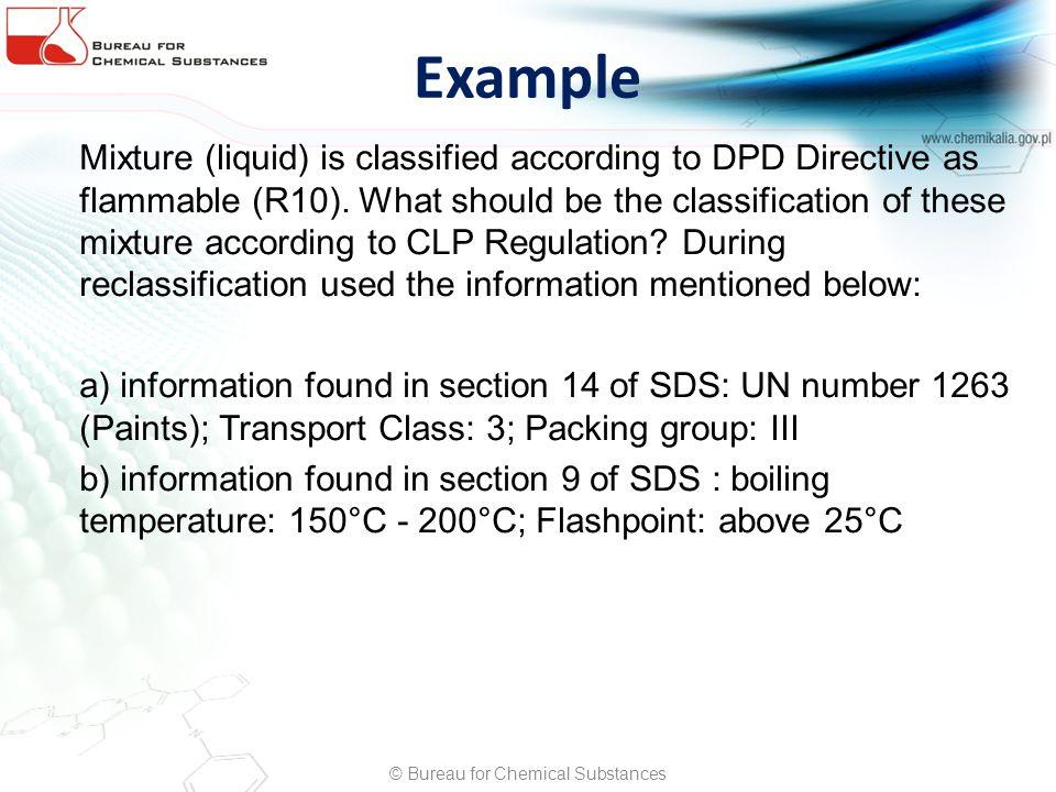 © Bureau for Chemical Substances