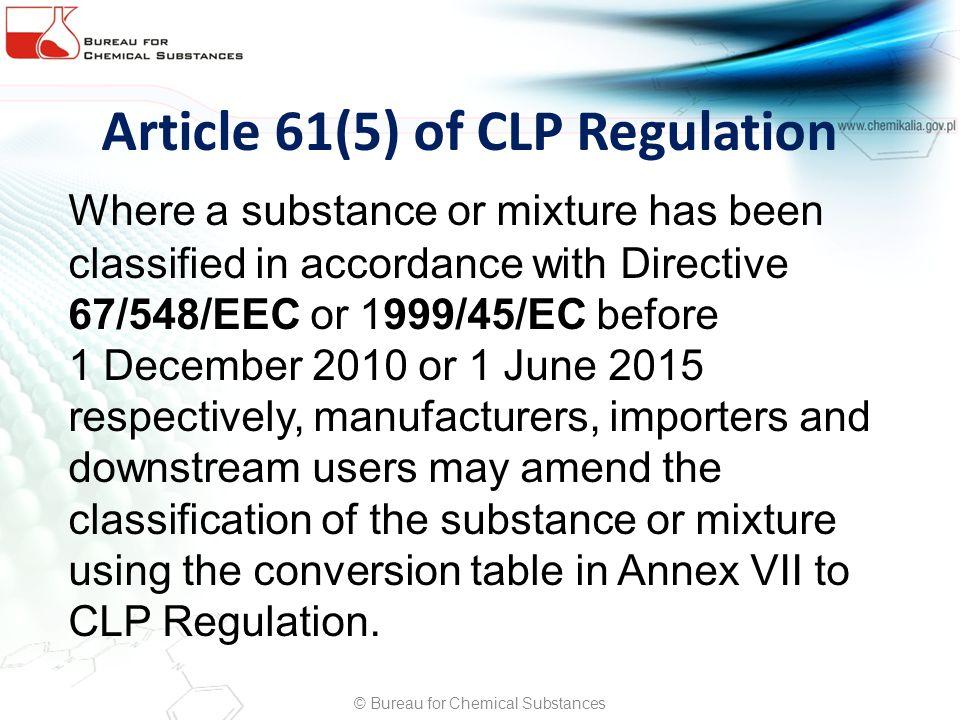 Article 61(5) of CLP Regulation