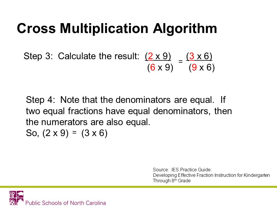 Cross Multiplication Algorithm
