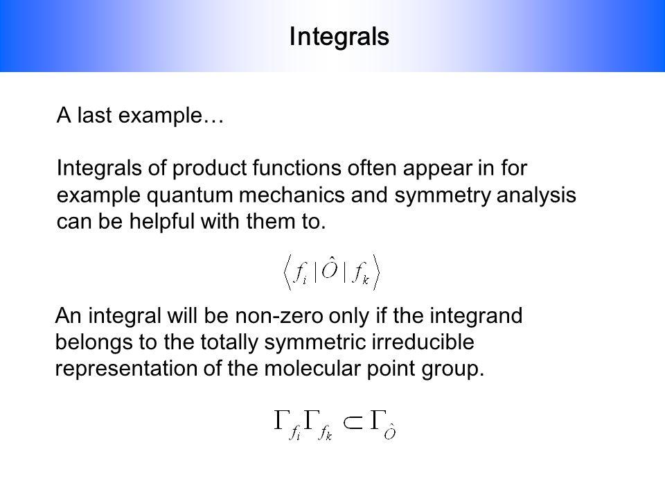 Integrals A last example…