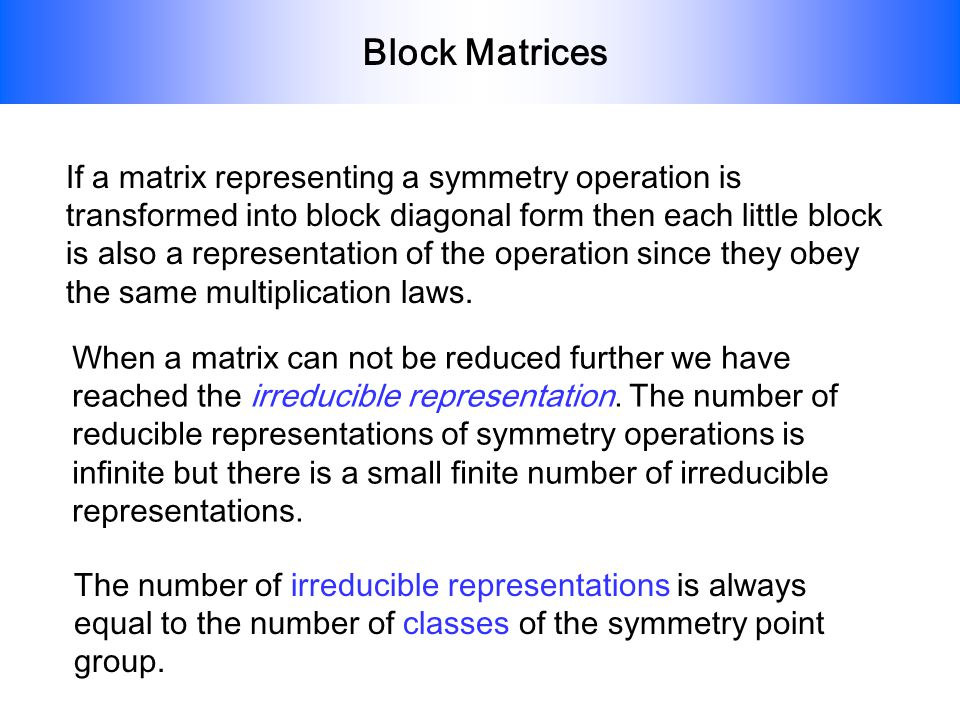 Block Matrices
