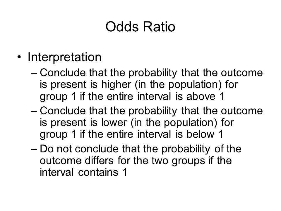 Odds Ratio Interpretation