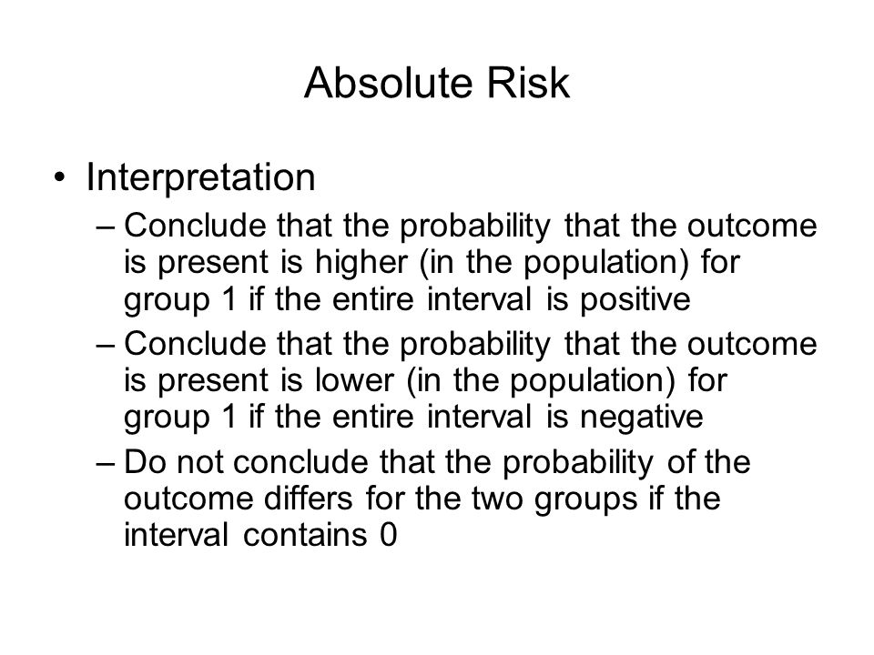 Absolute Risk Interpretation