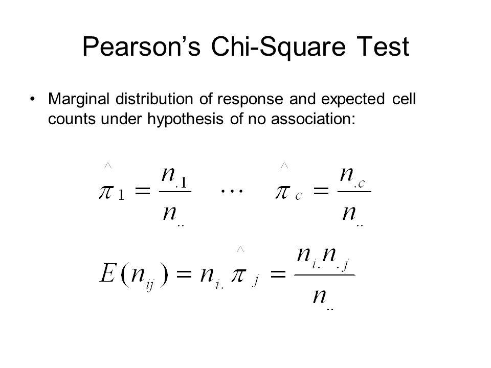 Pearson's Chi-Square Test