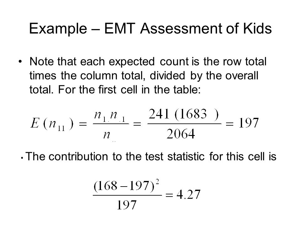 Example – EMT Assessment of Kids