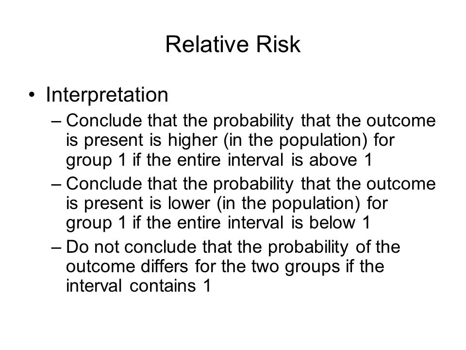 Relative Risk Interpretation