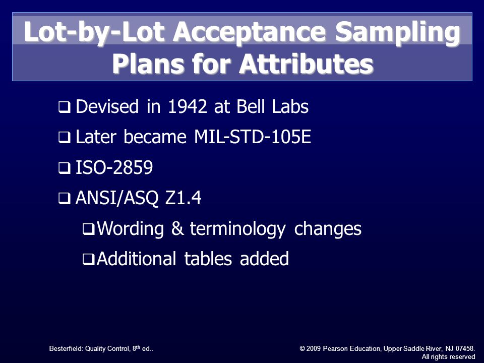 Lot-by-Lot Acceptance Sampling Plans for Attributes