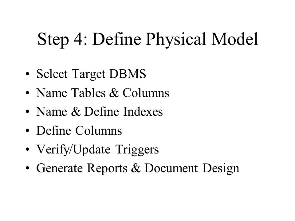 Step 4: Define Physical Model