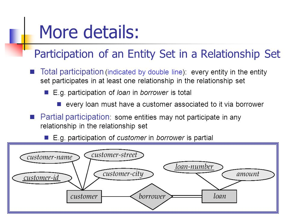 Participation of an Entity Set in a Relationship Set