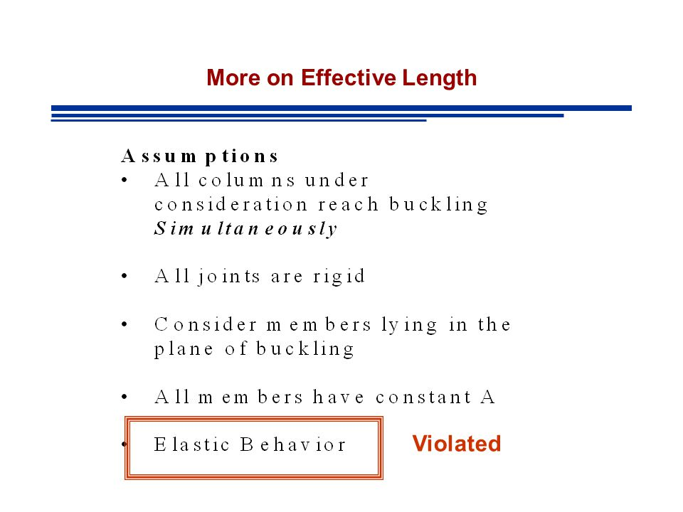 More on Effective Length