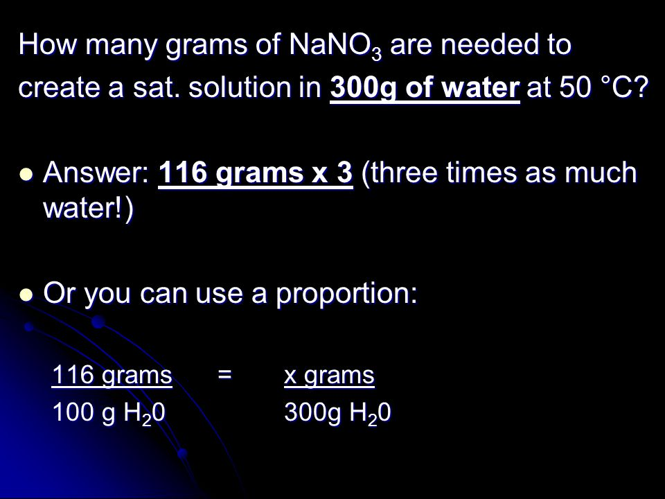 How many grams of NaNO3 are needed to