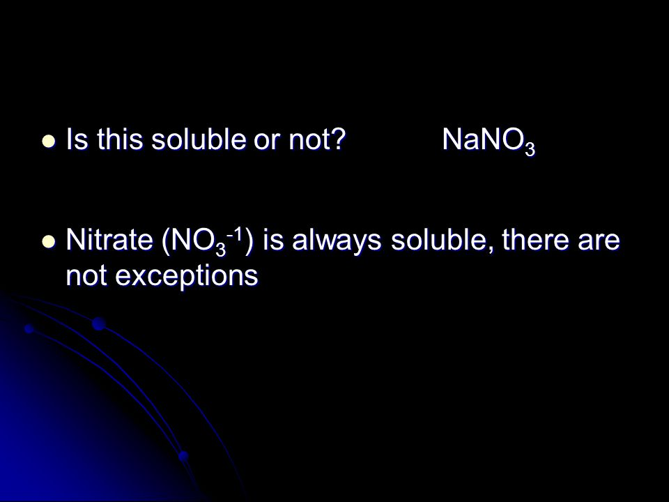Is this soluble or not NaNO3