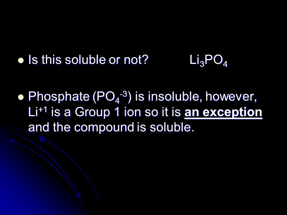 Is this soluble or not Li3PO4