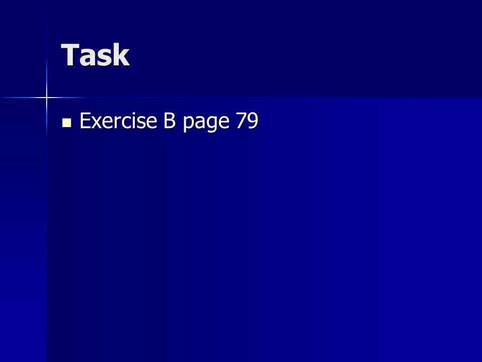 Task Exercise B page 79