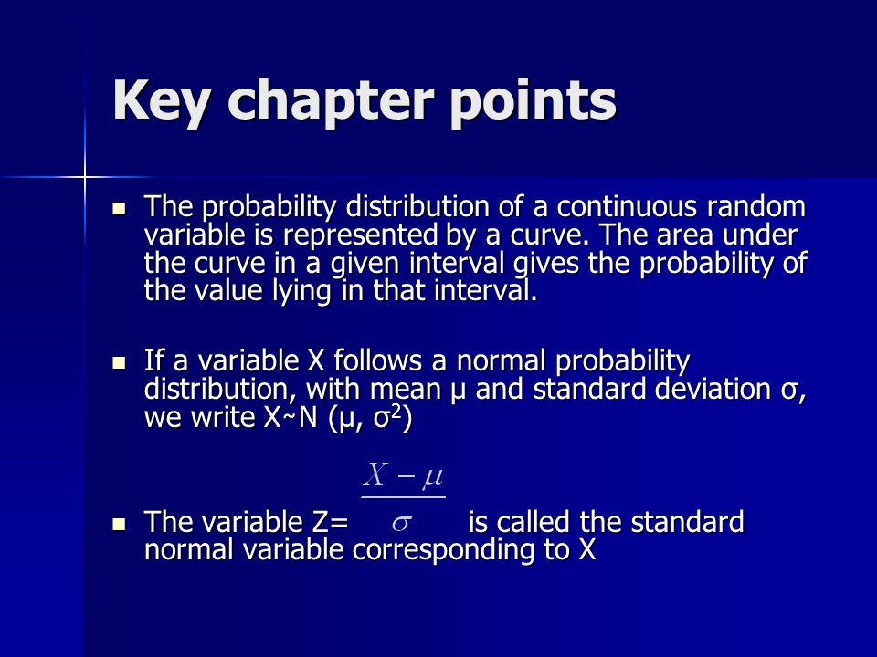 Key chapter points