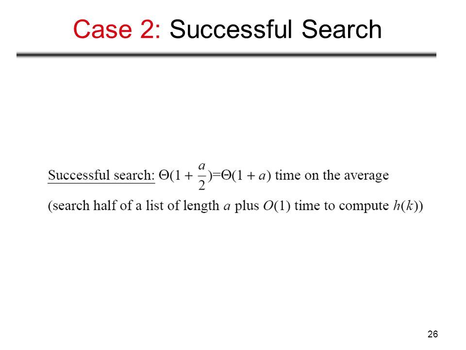 Case 2: Successful Search