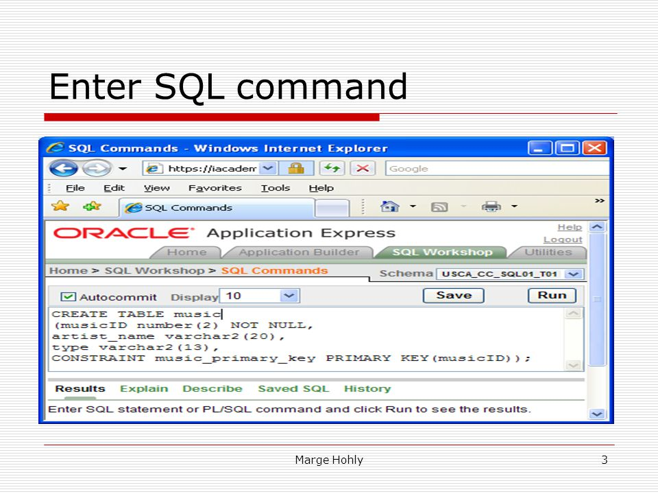 Enter SQL command Change the Display function to a number larger than 10. This will allow all records of a table or query to be displayed.