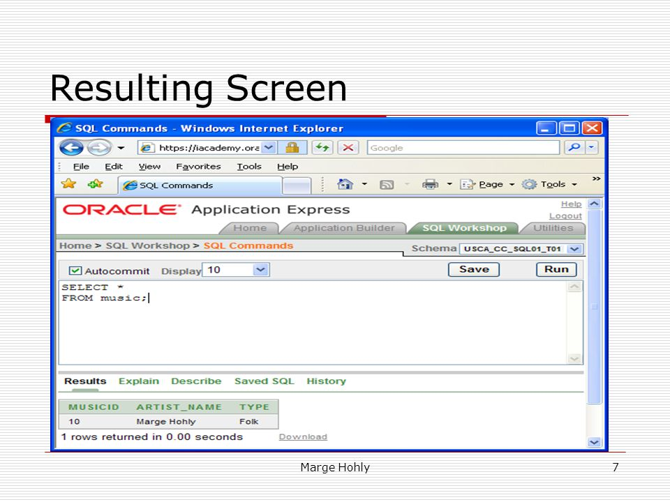 Resulting Screen
