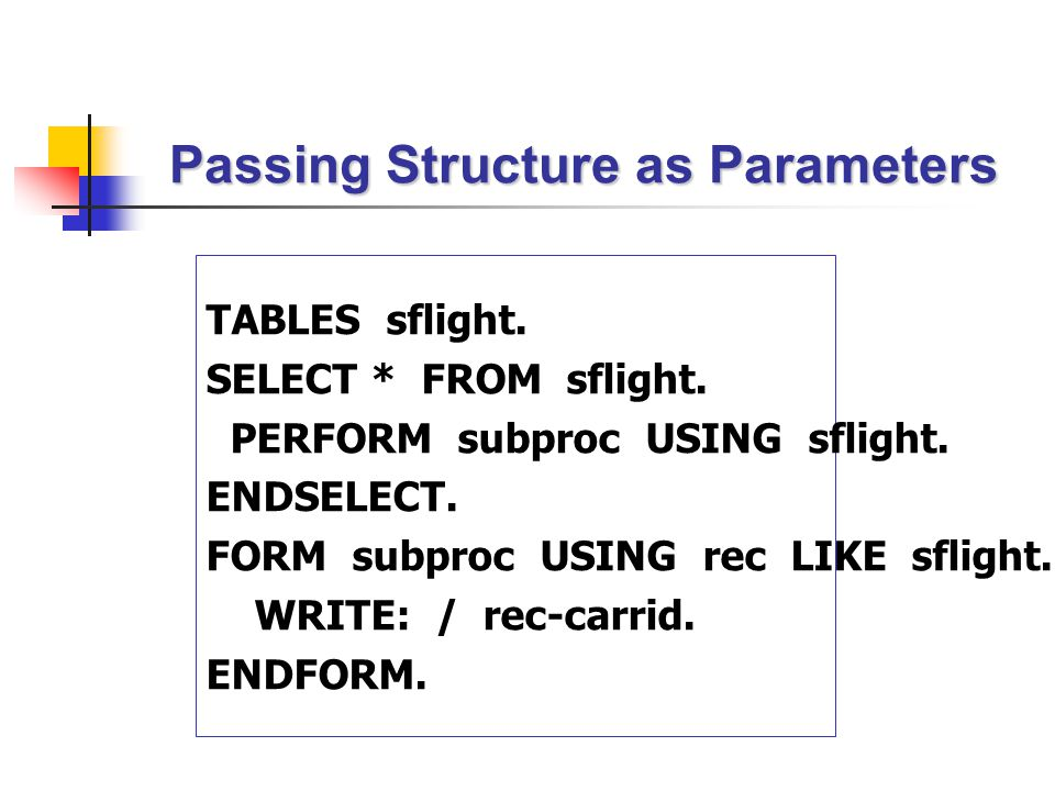 Passing Structure as Parameters
