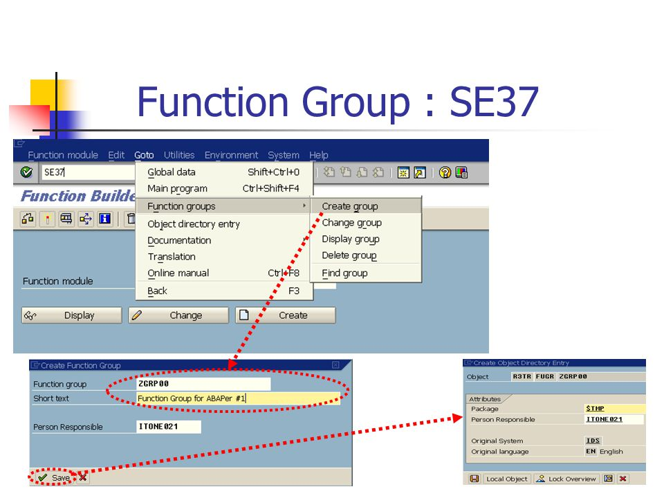Function Group : SE37
