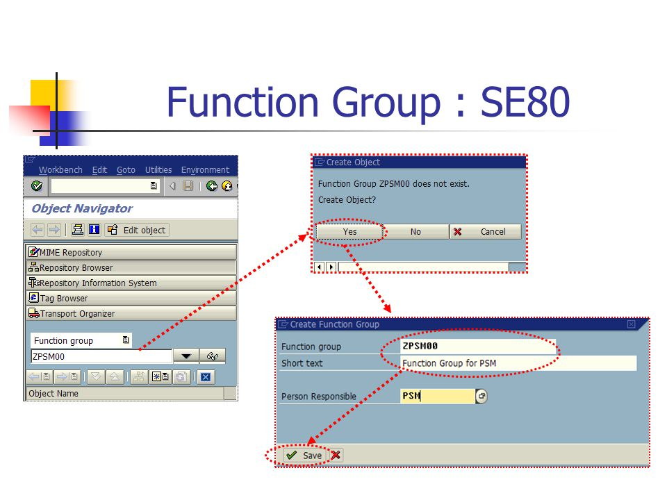 Function Group : SE80