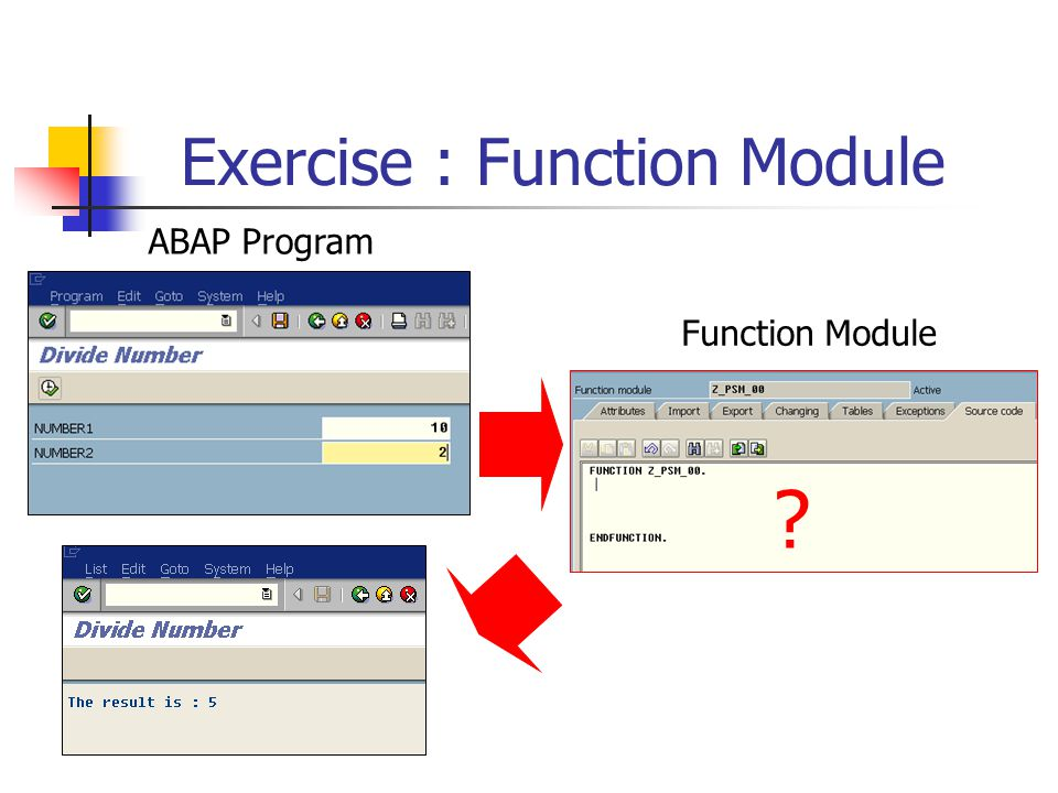 Exercise : Function Module