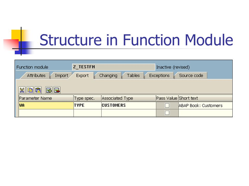 Structure in Function Module