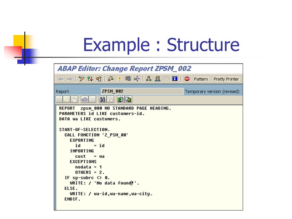 Example : Structure