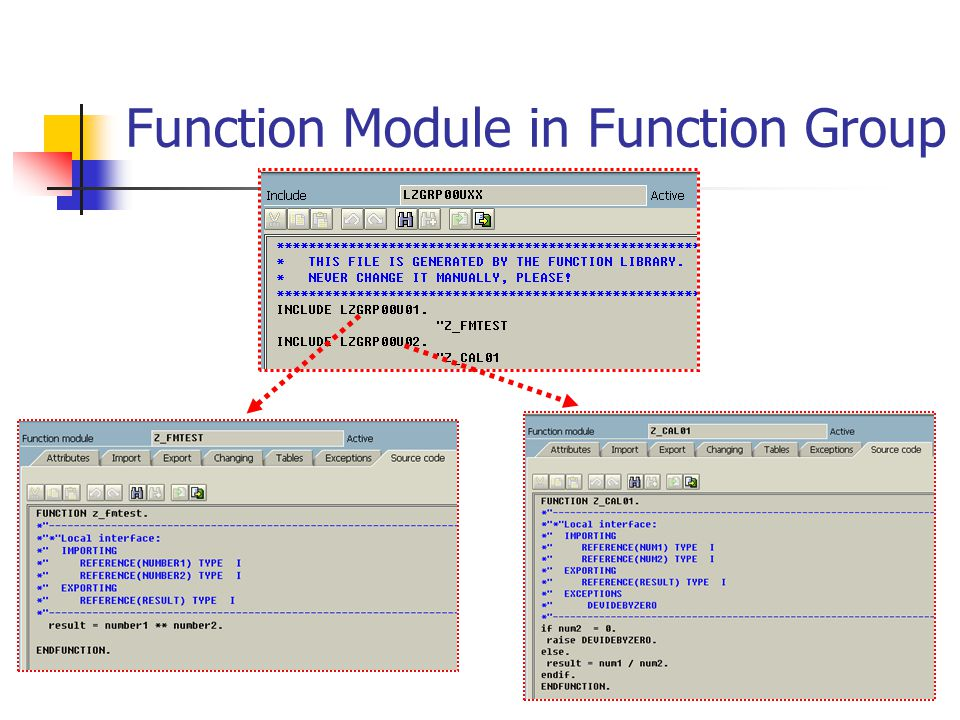 Function Module in Function Group