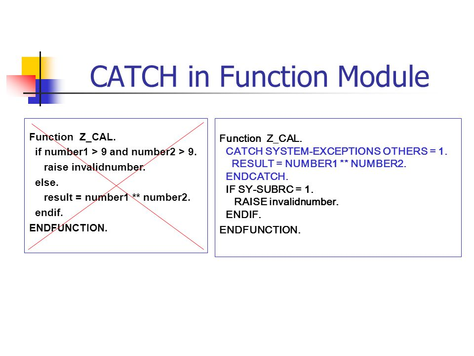CATCH in Function Module