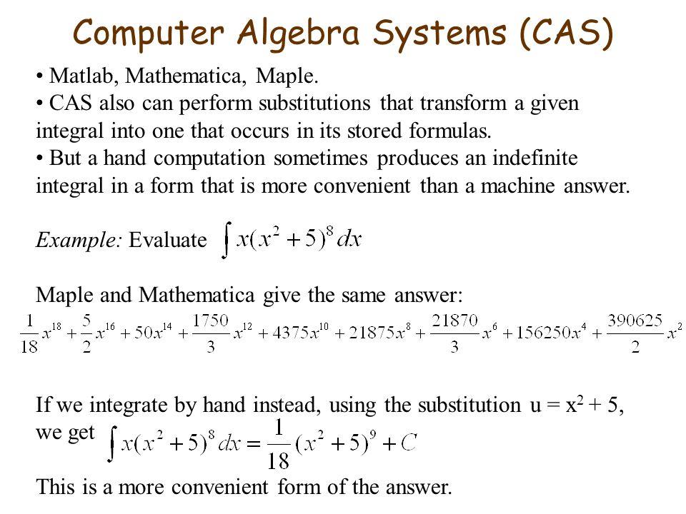 Computer Algebra Systems (CAS)