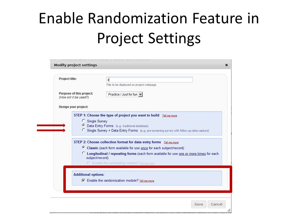 Enable Randomization Feature in Project Settings